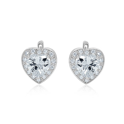 Aphrodite heart earrings and ring set-DEMI+CO Jewellery