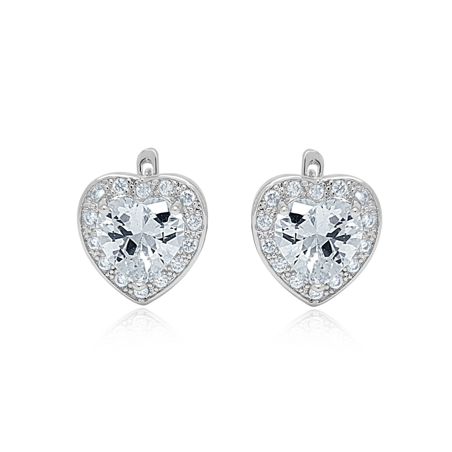 Aphrodite heart earrings and ring set