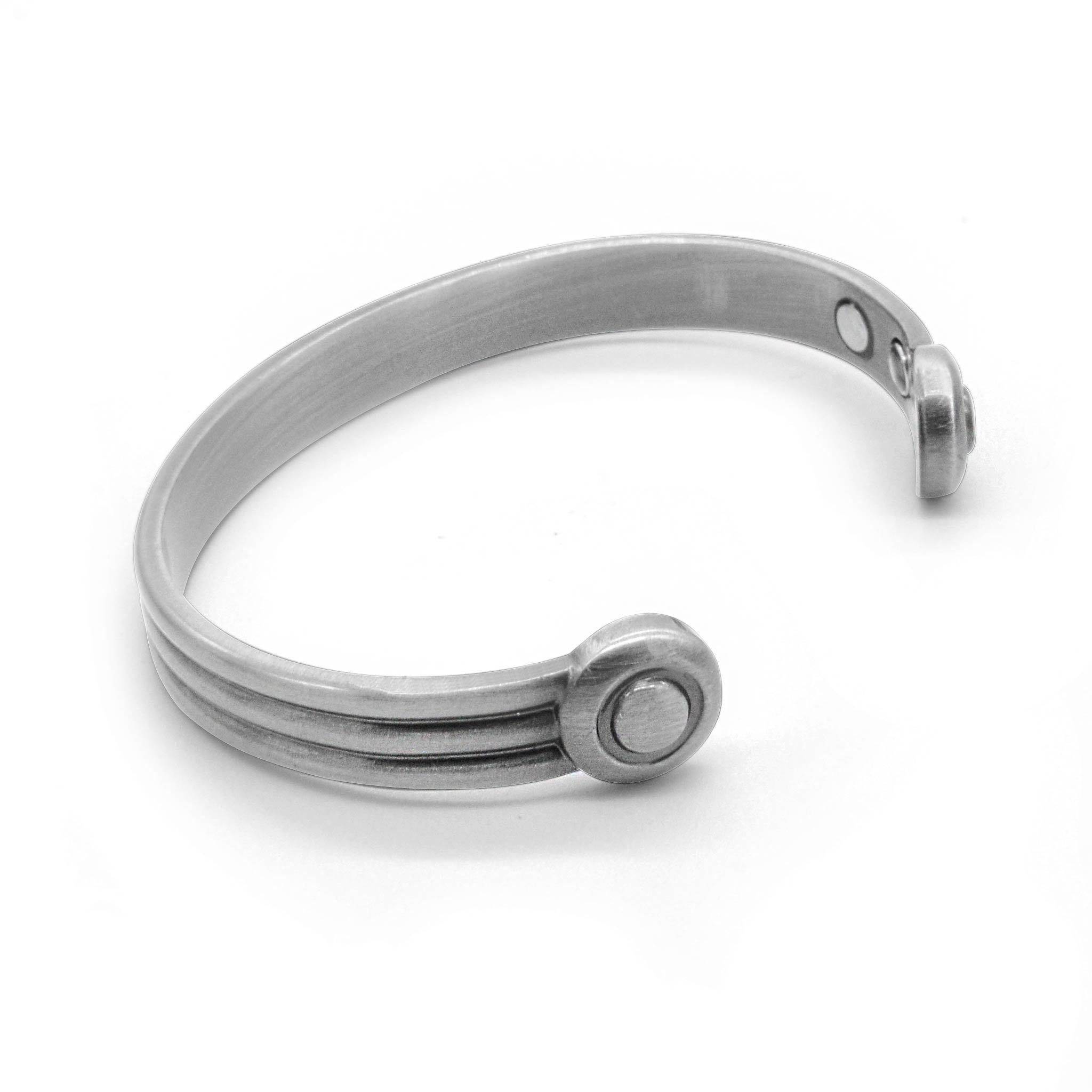 Axle Pewter Torque magnetic bangle-DEMI+CO Jewellery