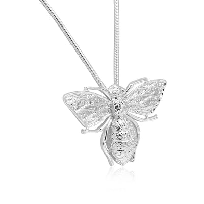 Bee mine 3D bee pendant and necklace-DEMI+CO Jewellery