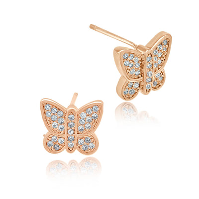Butterfly Stud Earrings-DEMI+CO Jewellery