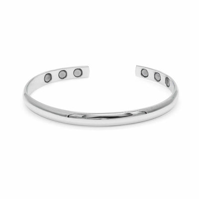 Champion Silver Magnetic Bangle-DEMI+CO Jewellery