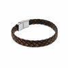 Dapper brown leather wide plaited bracelet-DEMI+CO Jewellery
