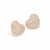 Dont break my heart rose gold effect pave heart studs