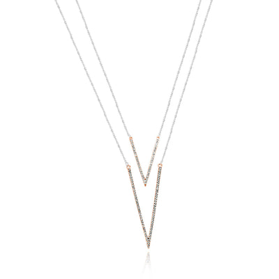 Ella geometric Necklace-DEMI+CO Jewellery