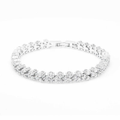 Elsa silver crystal tennis bracelet-DEMI+CO Jewellery