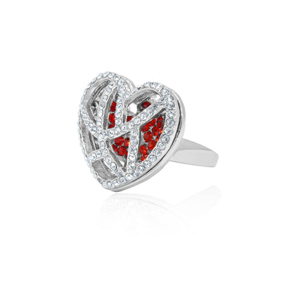 Eternal love caged heart ring-DEMI+CO Jewellery