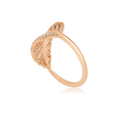 Evie Leaf Ring-DEMI+CO Jewellery