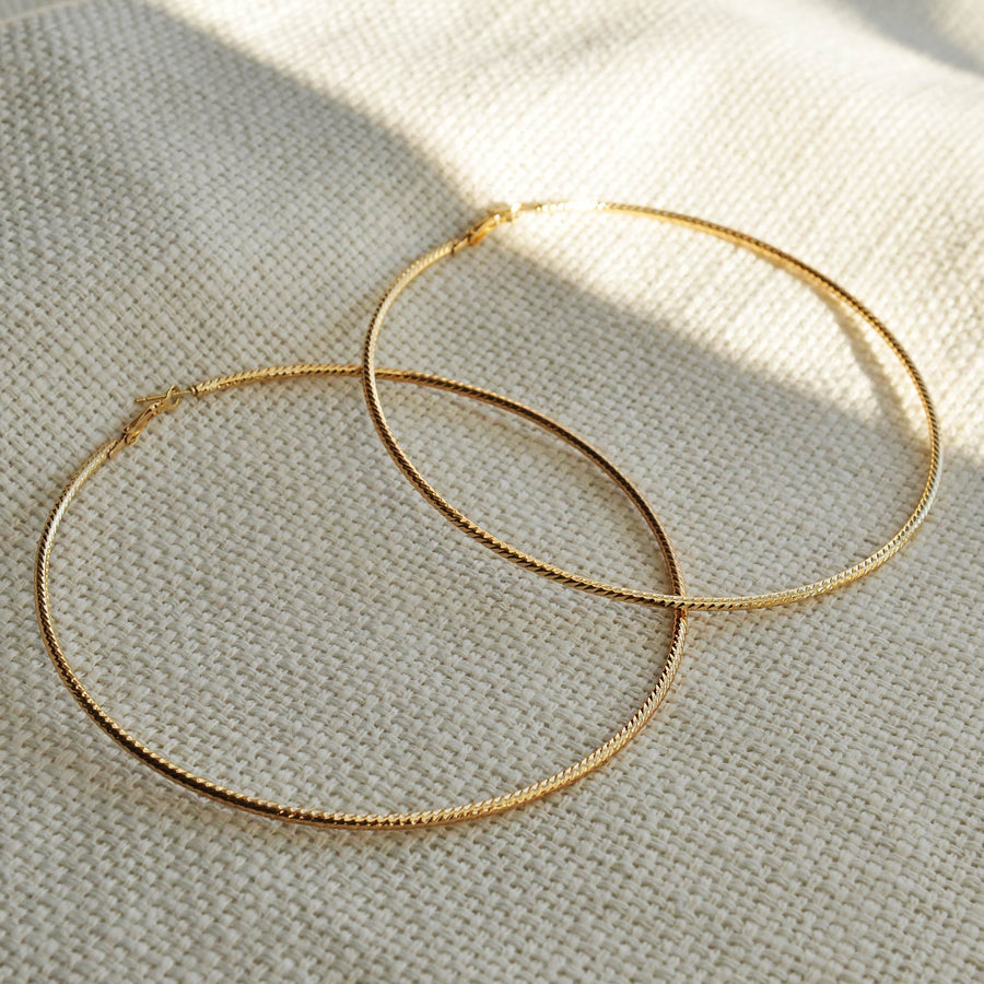 Aria XL Gold Hoops