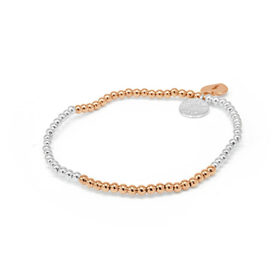 Forever Love Lock Beaded Stretch Bracelet-DEMI+CO Jewellery