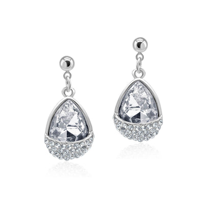 Gracie Teardrop Diamante Earrings-DEMI+CO Jewellery