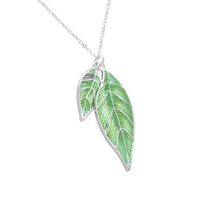 Iris twin leaf necklace-DEMI+CO Jewellery