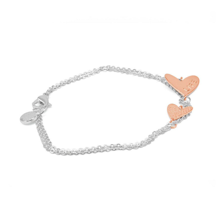 Love Life' Double Heart Bracelet-DEMI+CO Jewellery