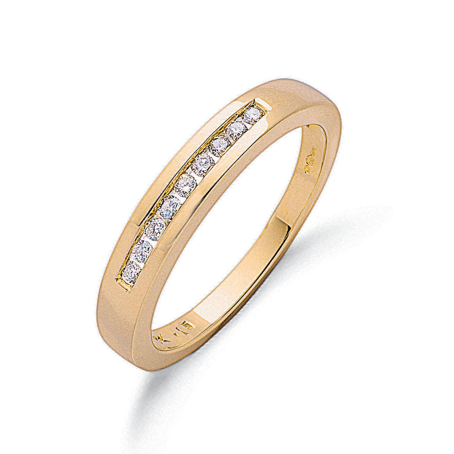 9ct Y/G 0.15ct Diamond Eternity Ring
