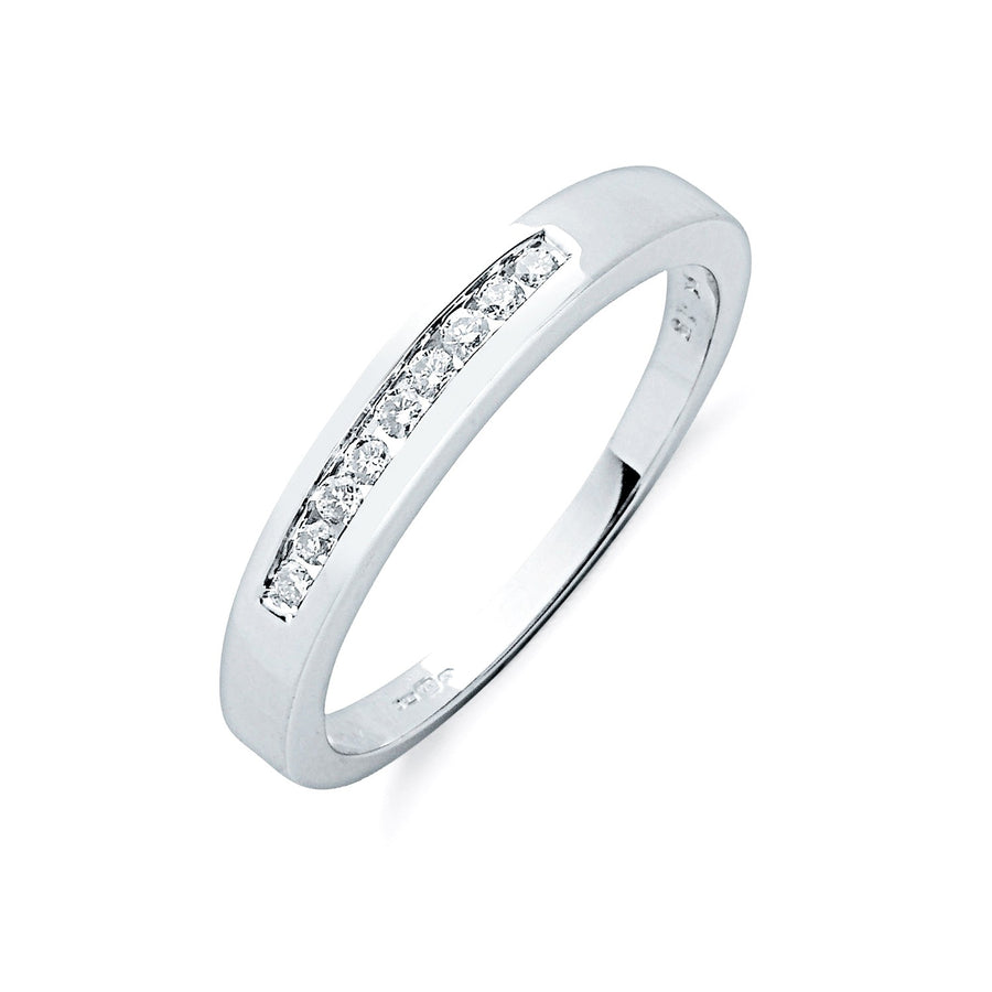 9ct W/G 0.15ctw Diamond Eternity Ring