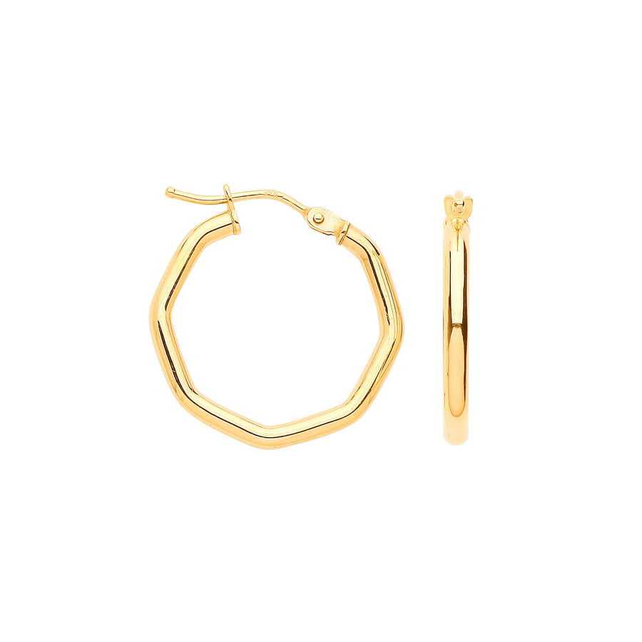 Y/G Octagon Hoop Earrings