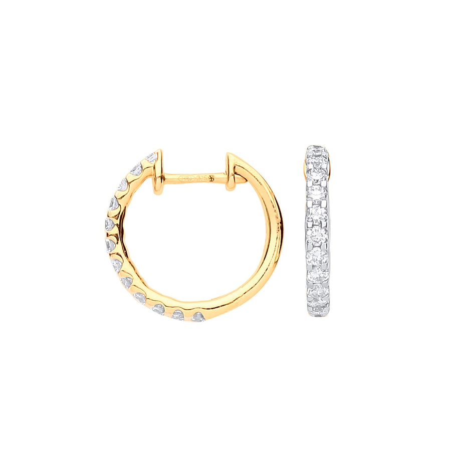 9ct Yellow Gold 0.52ct Diamond Earrings