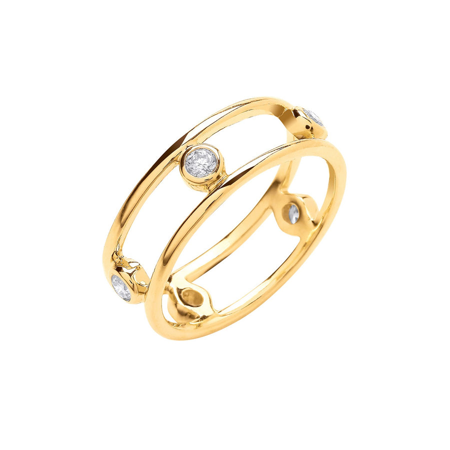 9ct Yellow Gold 0.25ctw Diamond Ring