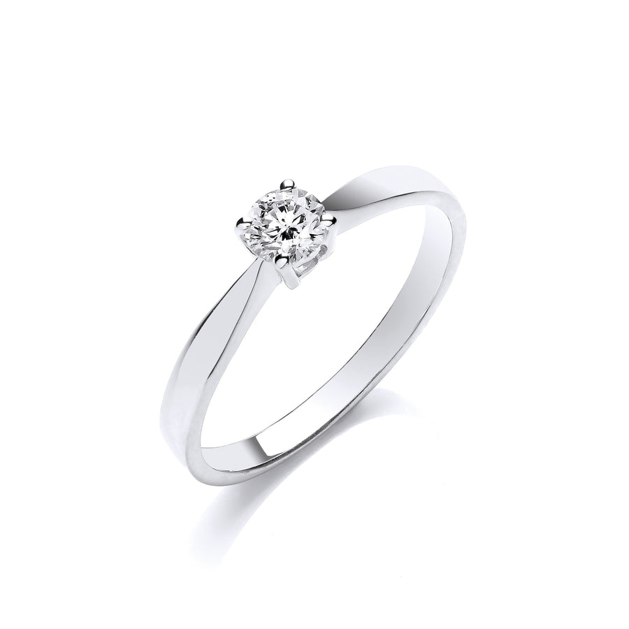 9ct W/G 0.25ct Diamond Engagement Ring