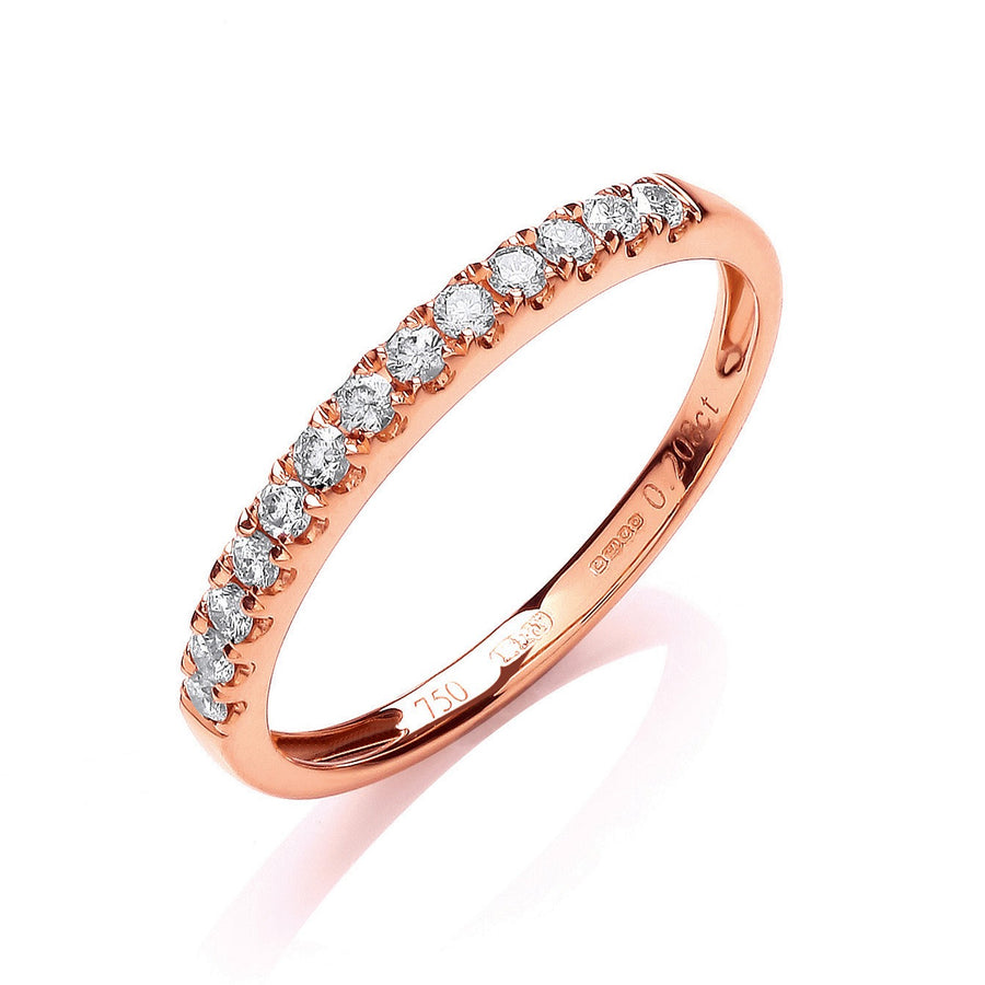 18ct Rose Gold 0.20ctwHalf Eternity Ring