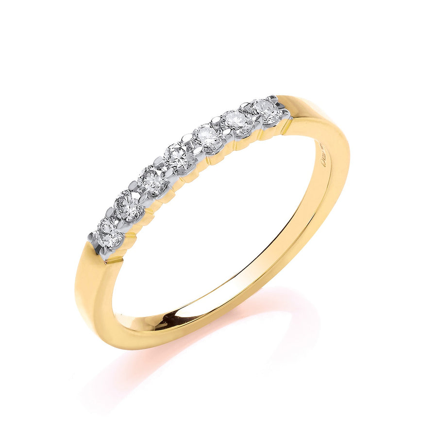 9ct Yellow Gold D.025ct Diamond Half ET Ring