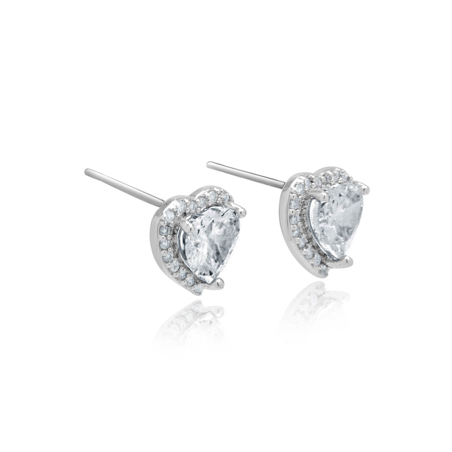 Maisie crystal full heart studs