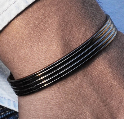 mens black copper bracelet