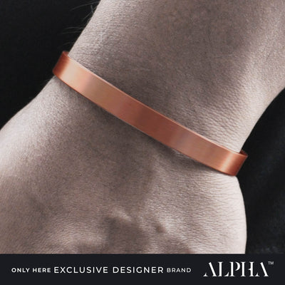 slim copper bracelet