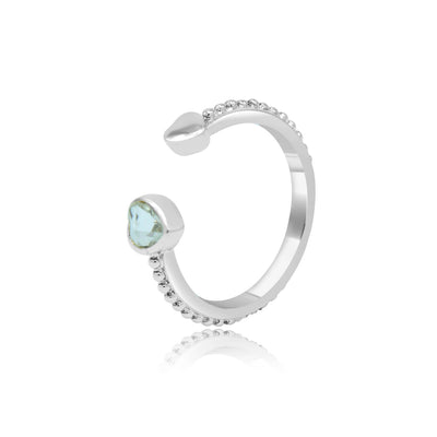 Nikita open cuff ring-DEMI+CO Jewellery
