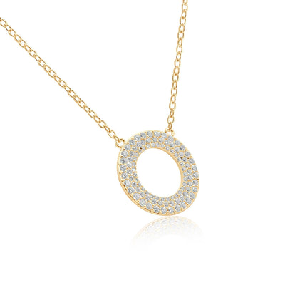 Not over you open circle pendant neklace-DEMI+CO Jewellery
