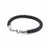 Preppy black leather bracelet | ALPHA™ mens