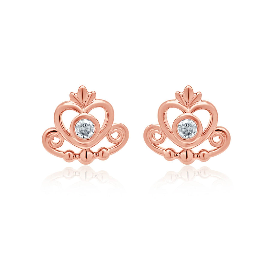 Rianna regal rose gold tiara earrings