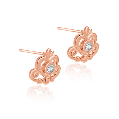 Rianna regal rose gold tiara earrings-DEMI+CO Jewellery
