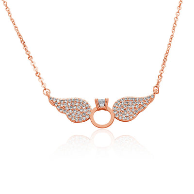 Ring and Wings Necklace-DEMI+CO Jewellery