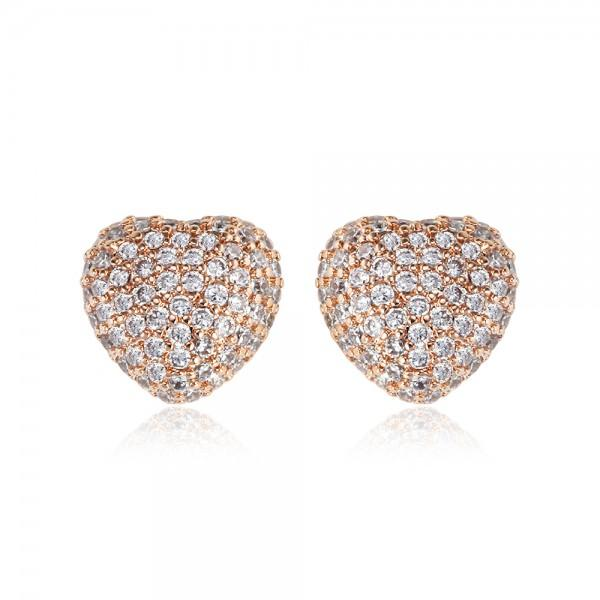 Rita rose gold pave earrings-DEMI+CO Jewellery