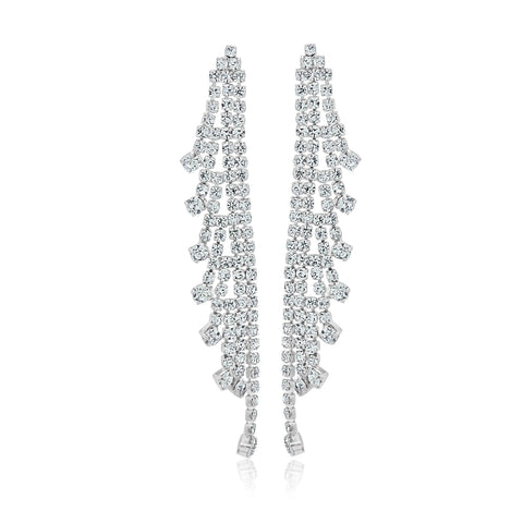 rhinestone earrings for wedding