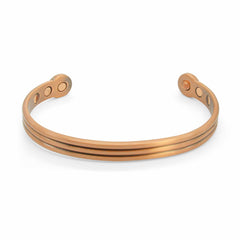 Men's copper magnetic bracelet 2 groved