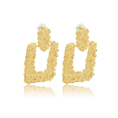 Serena textured earrings-DEMI+CO Jewellery