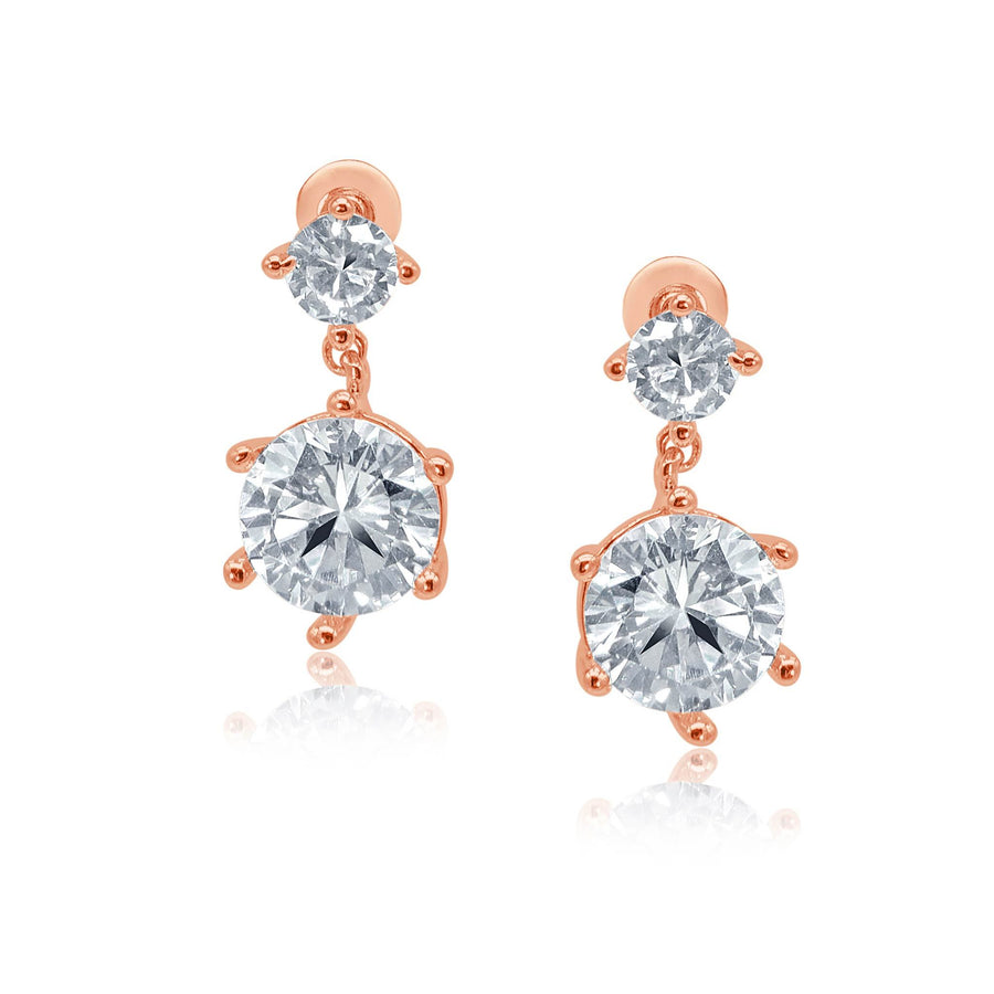 Shine bright crystal double drop earrings