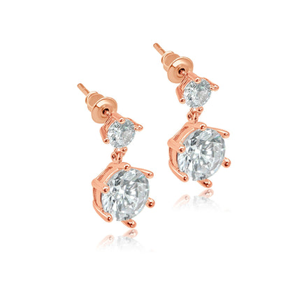 Shine bright crystal double drop earrings-DEMI+CO Jewellery