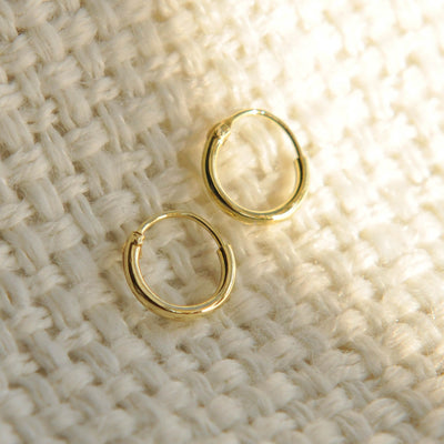small 6mm gold hoop earrings