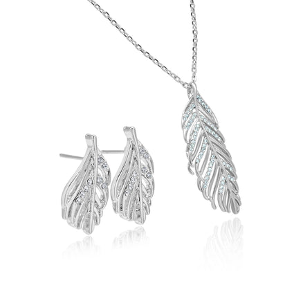 Spring leaves necklace set-DEMI+CO Jewellery