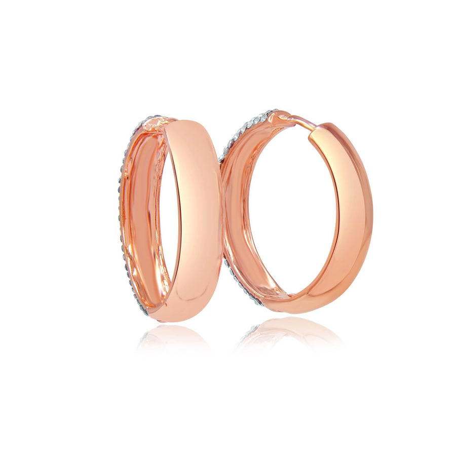 Stella diva rose gold crystal hoop earrings