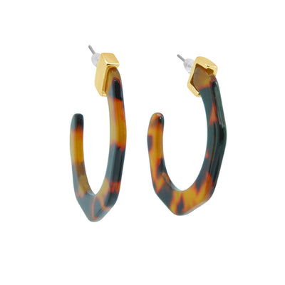 Tame cat geometric resin earrings-DEMI+CO Jewellery