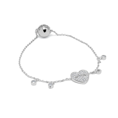 Young hearts silver charm bracelet-DEMI+CO Jewellery