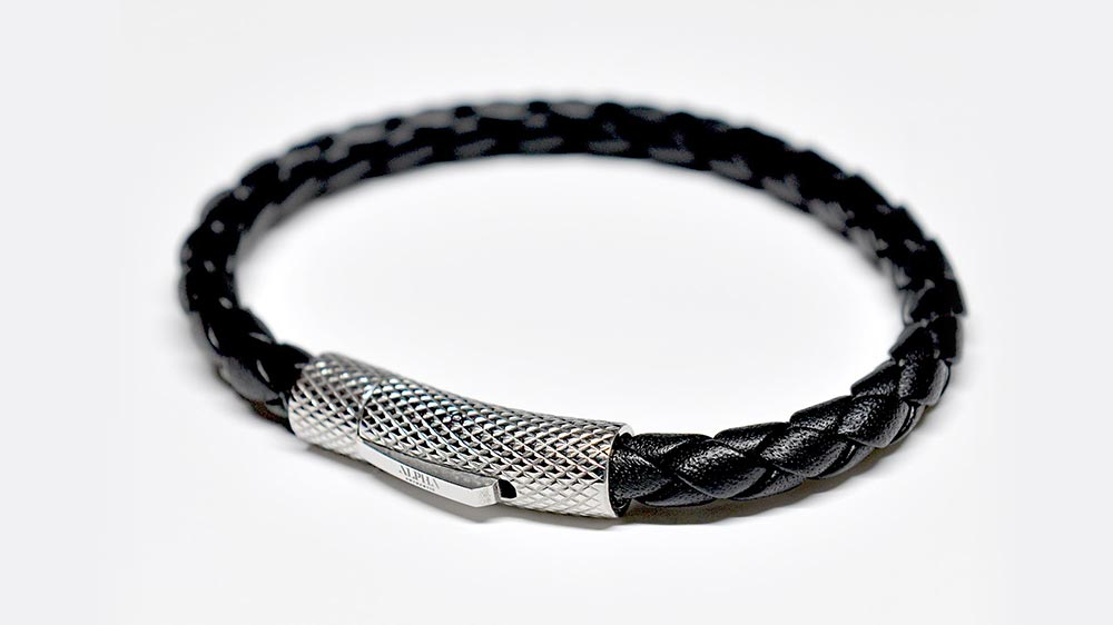 ALPHA slim leather bracelet