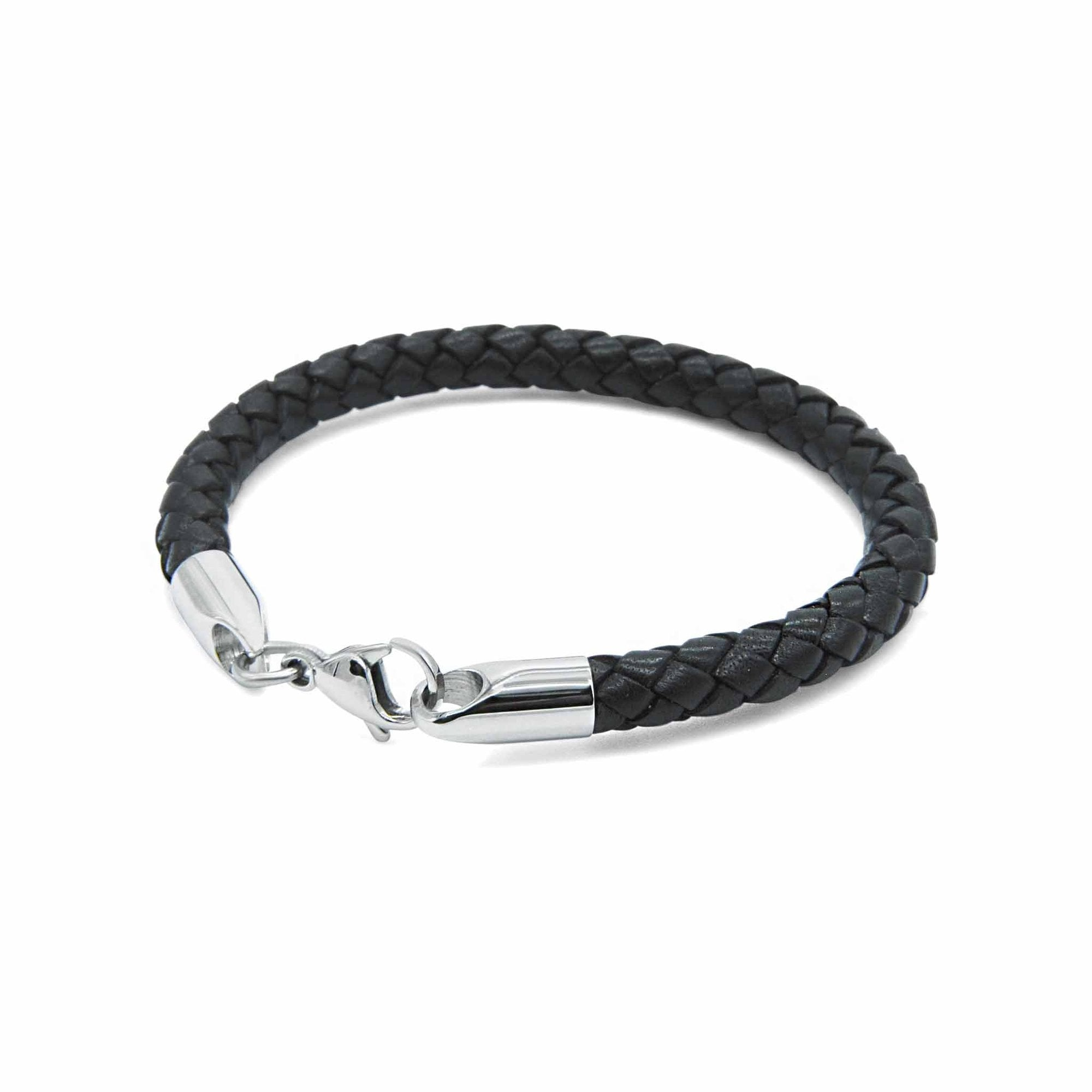 black leather bracelet | ALPHA™ mens