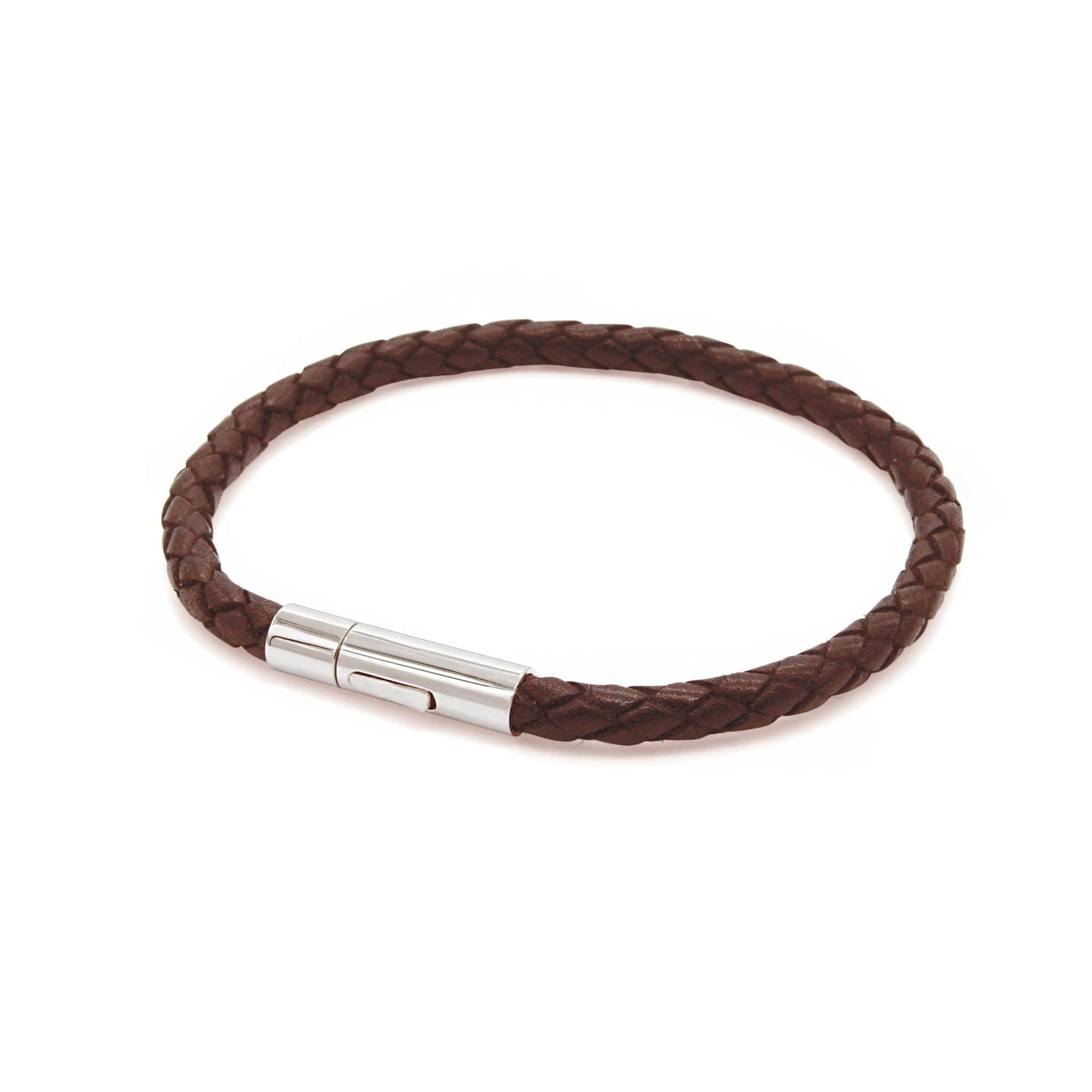 brown leather braided bracelet | ALPHA™ mens