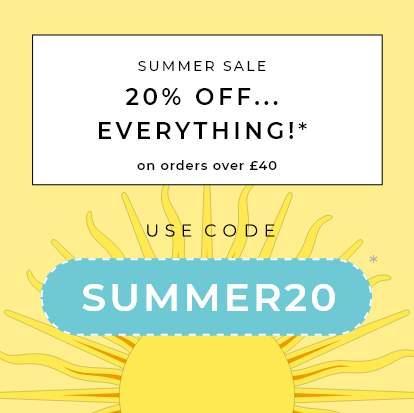 20% OFF WITH CODE 'SUMMER20'*