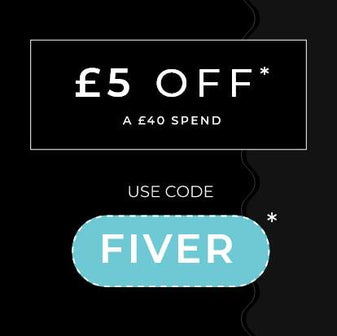 £5 OFF WITH CODE 'FIVER'